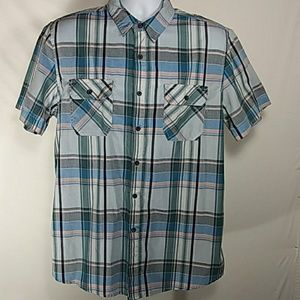 American Rag Light Blue Plaid Shirt